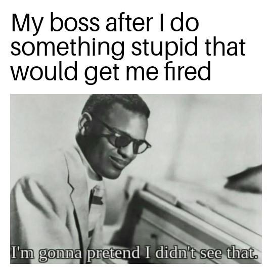 Thanks boss. - meme