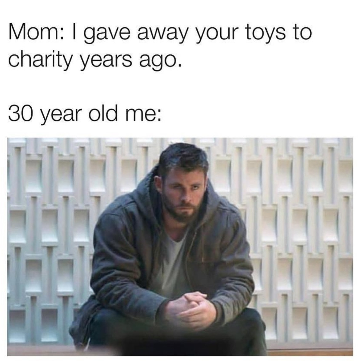 I didn't even open some, mom... *Curl up in a corner, trying to cry* - meme