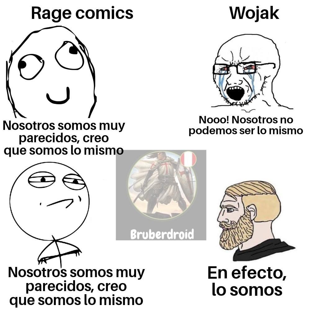¿Y ustedes creen que los wojak y los rage son lo mismo? Personalmente si - meme