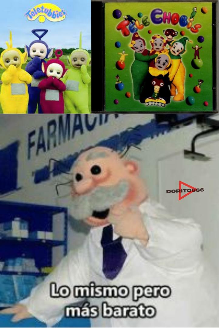 La copia mexicana de los teletubbies - meme