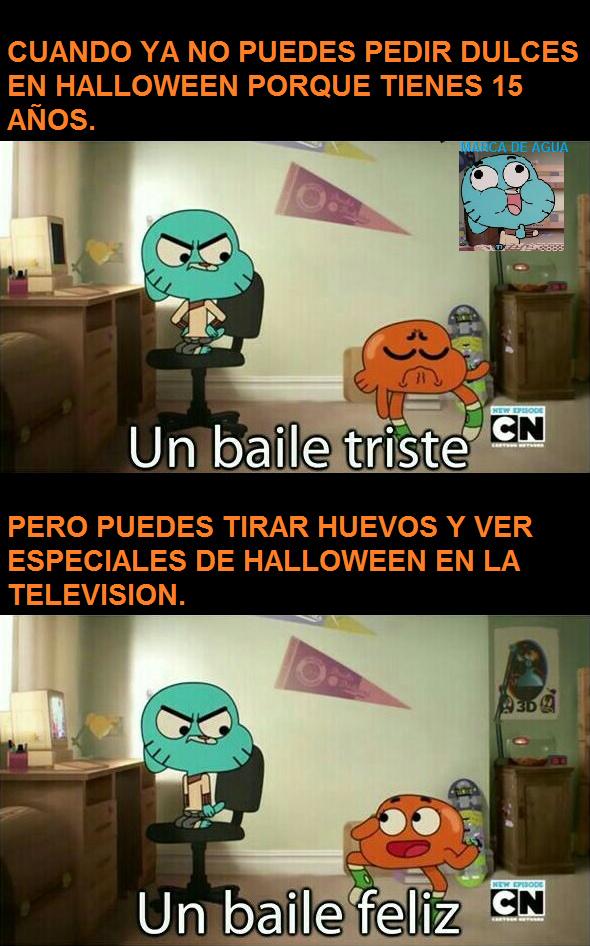 plantilla modificada, pero acepten el meme porque este es el mes de halloween, este es el primer meme que hago en mi pc.