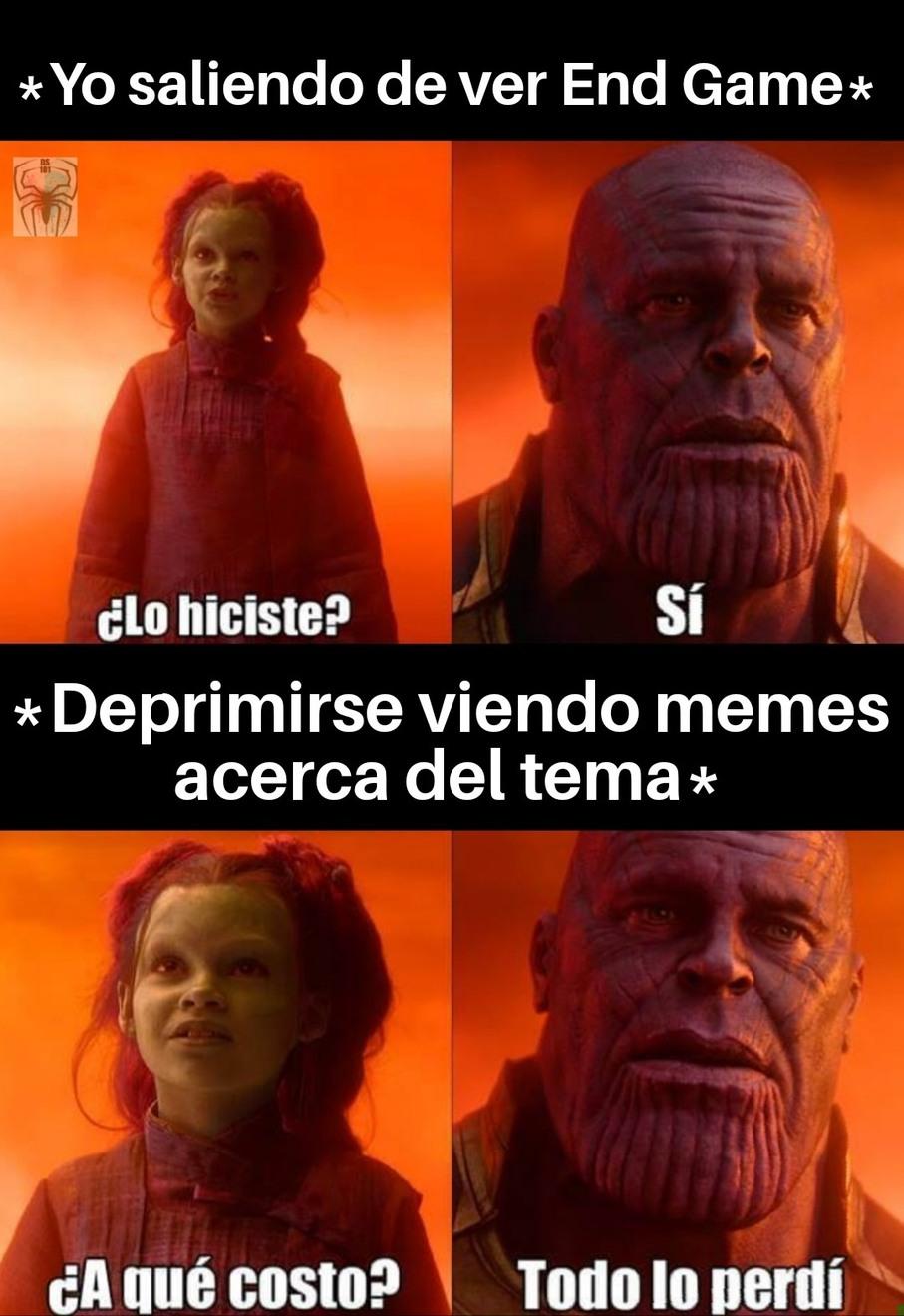 End Game. - meme