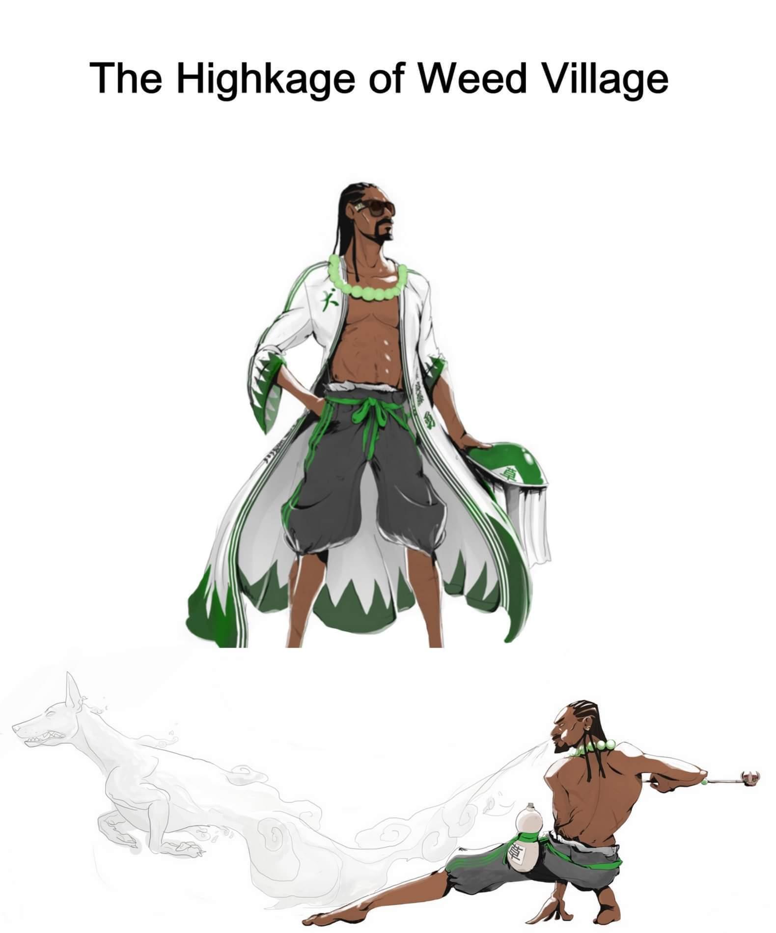 Weebs & weed - meme