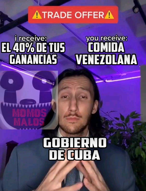 Primer meme que hago con esta plantilla, y última memierda que subo sobre Cuba:son: