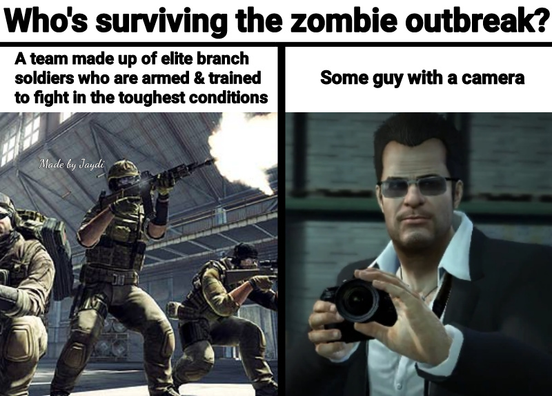 Talking about Dead Rising for those unfamiliar with Frank West - meme