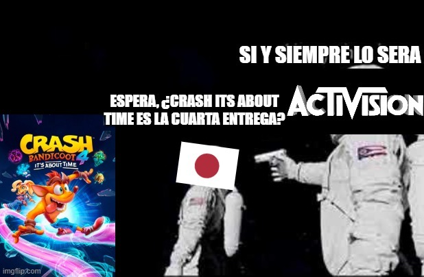 Crash 4 its about time y Japon in a nutshell - meme