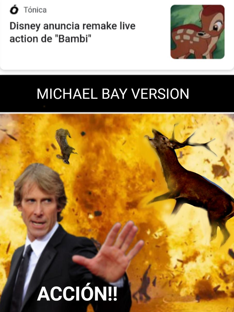 Peliculas segun Michael Bay - meme