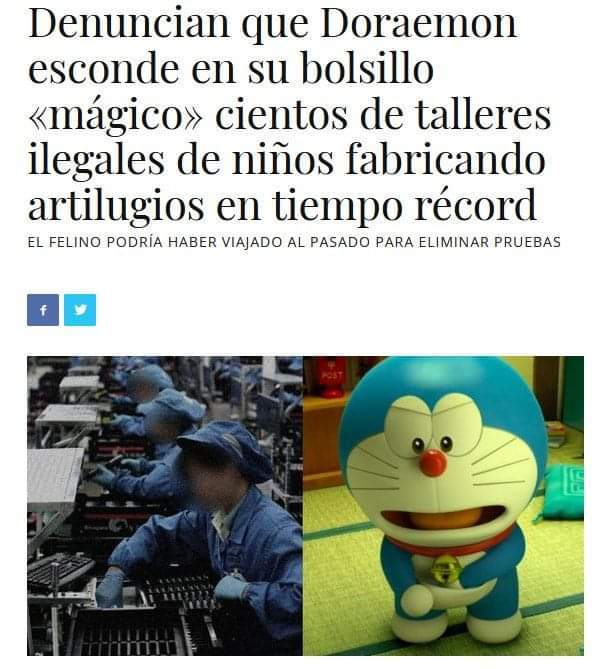 Ni Doraemon se salva de las funas - meme