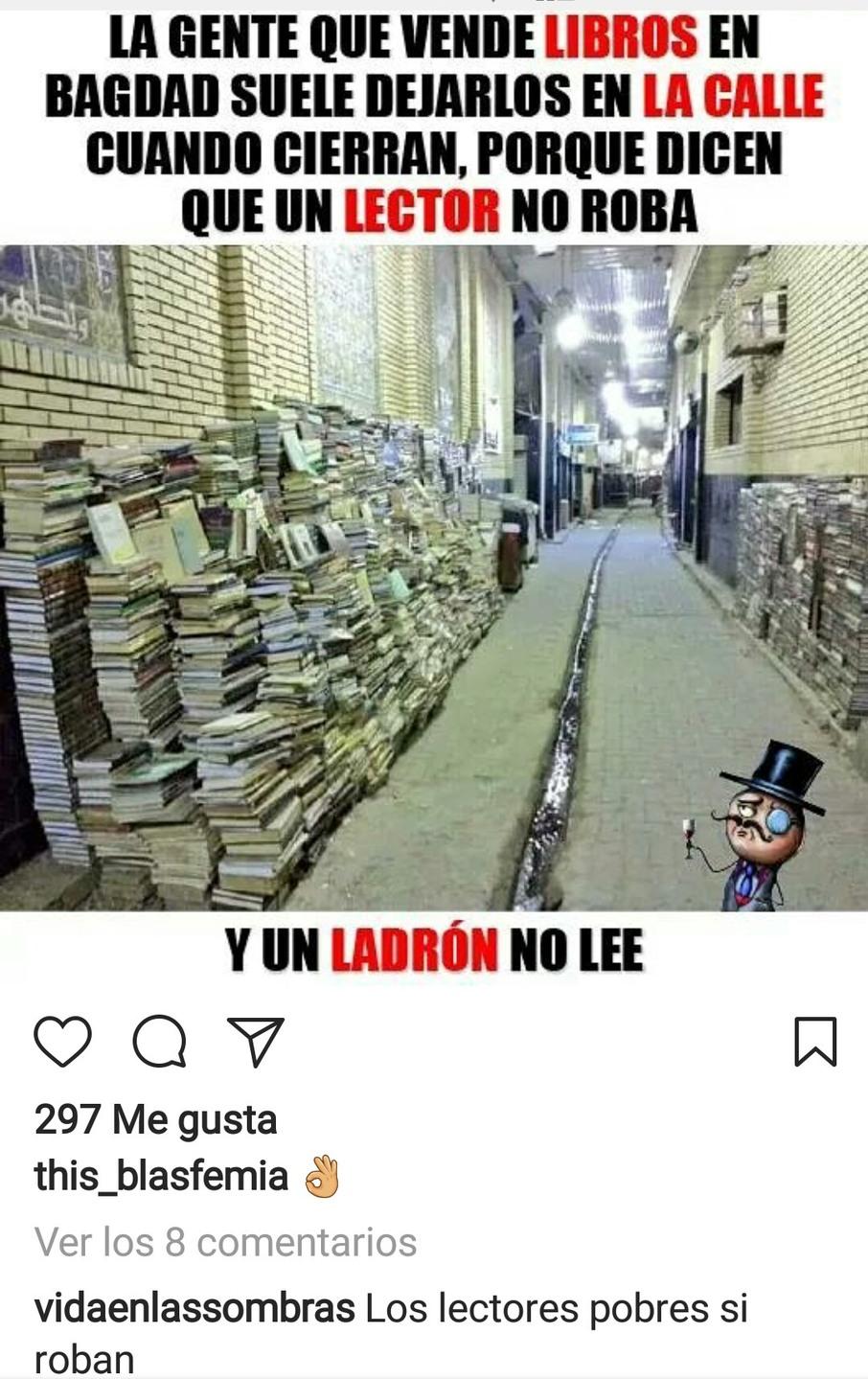los lectores pobres si roban :v - meme