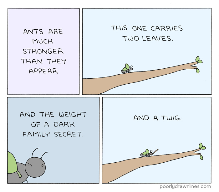Ants are strong - meme