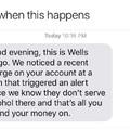 Darn Wells Fargo