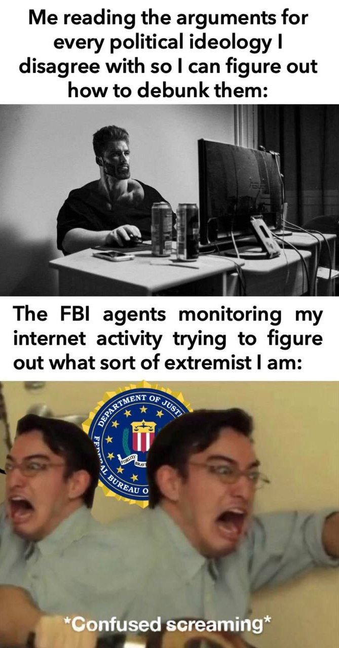 Nobody is an extremist, just douche bags - meme