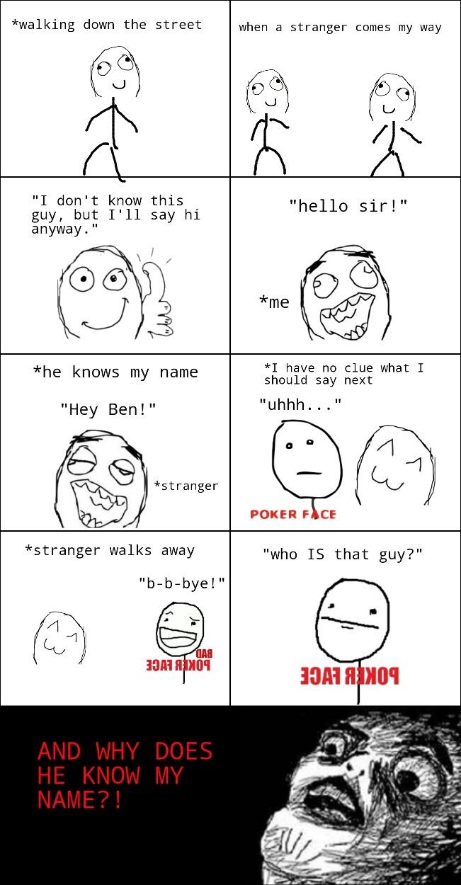 Awkward encounter - meme