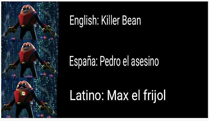 Versiones Killer bean - meme