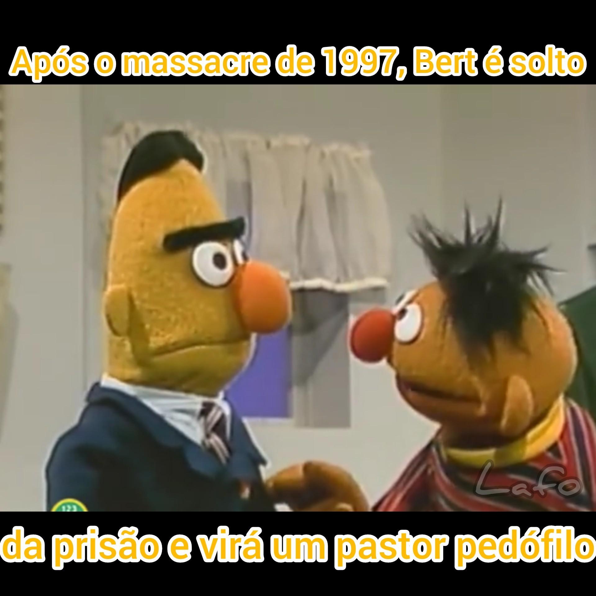 Não sei Pastor Bert - meme