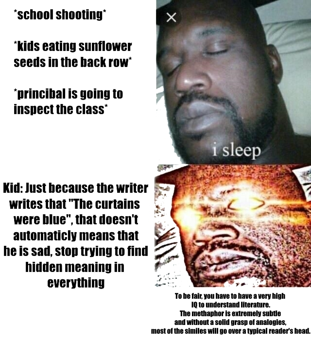 Literature teachers be like - meme