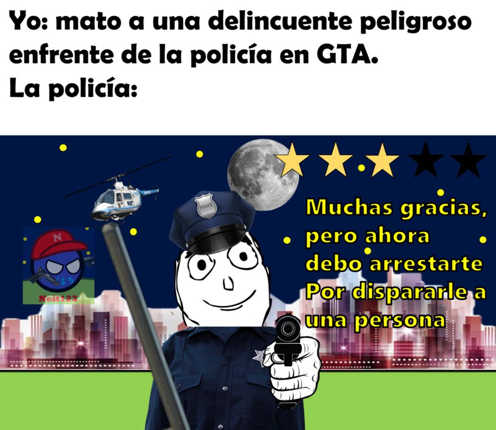 policias de GTA son igual corruptos como latam :yaoming: :truehistory: :grin: - meme