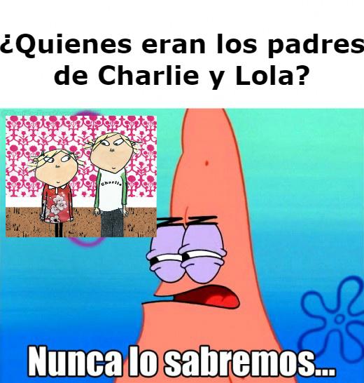Charlie y Lola padres - meme