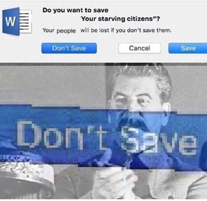 Don't save hahaha - meme