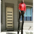 Kevin Hart would kill for those legs, if he could reach...