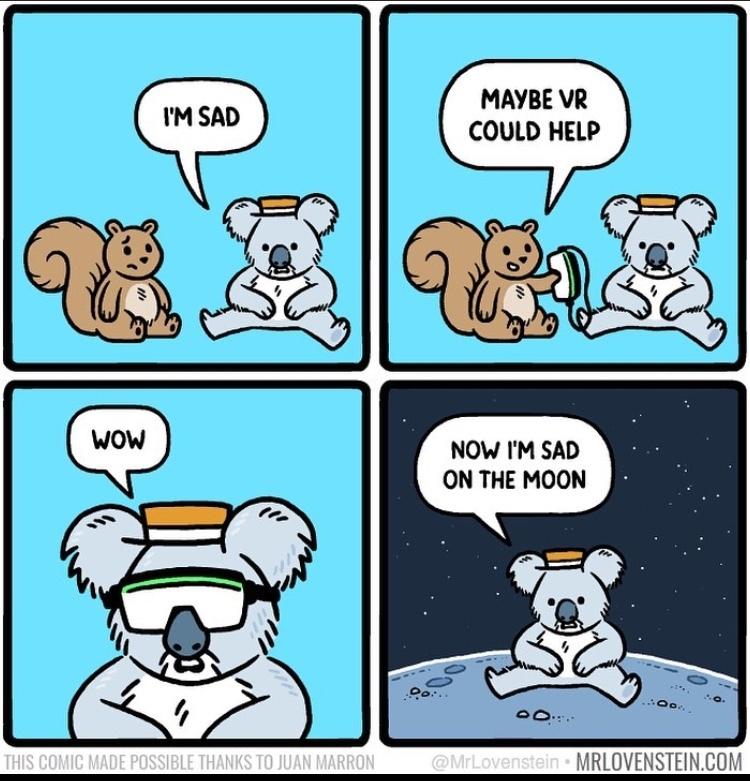 sad on the moon - meme