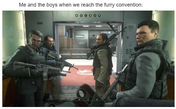 Remember, no furries - meme