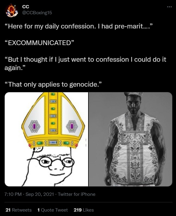 dongs in a confession - meme