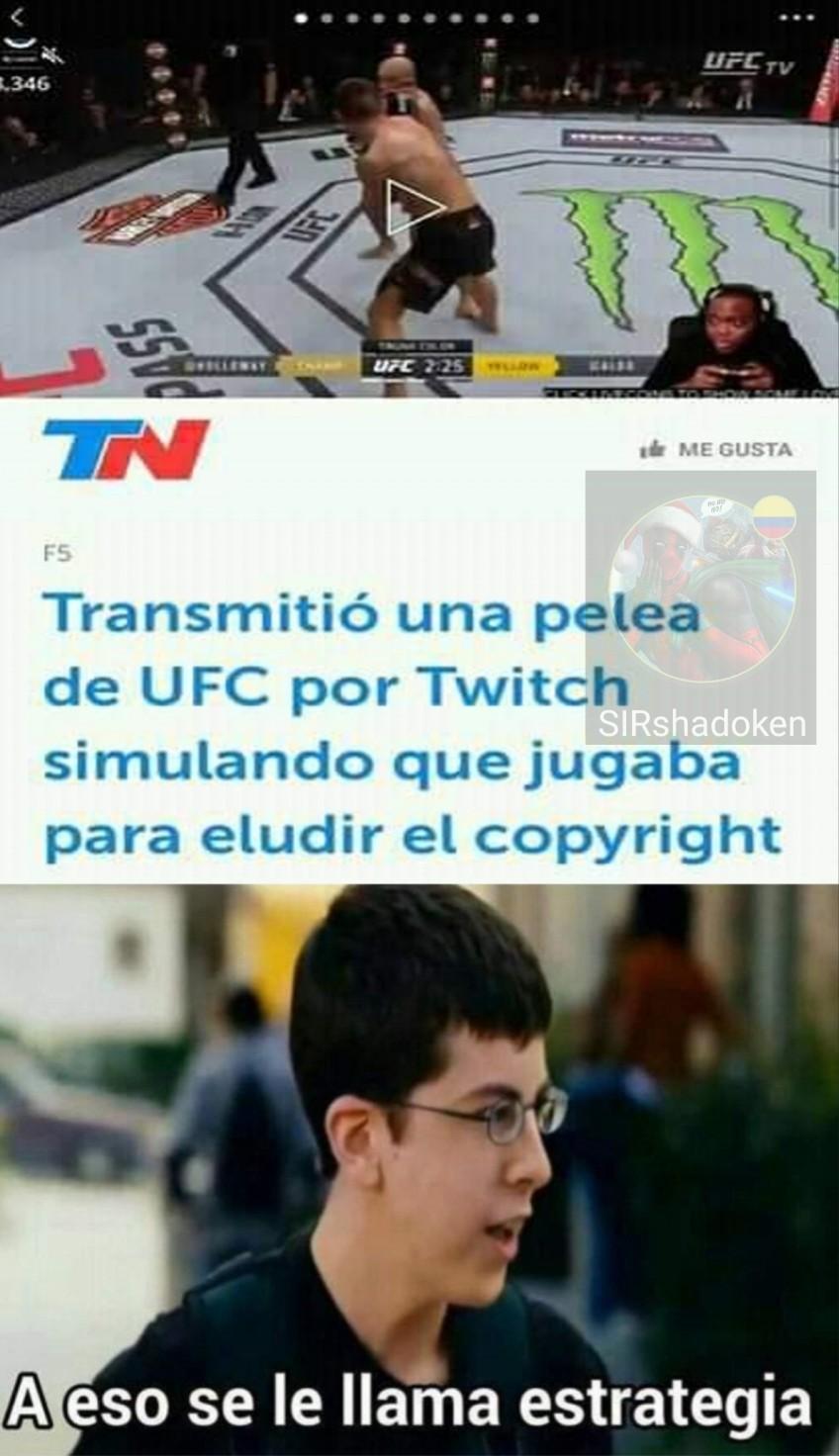 El título ganó la pelea - meme