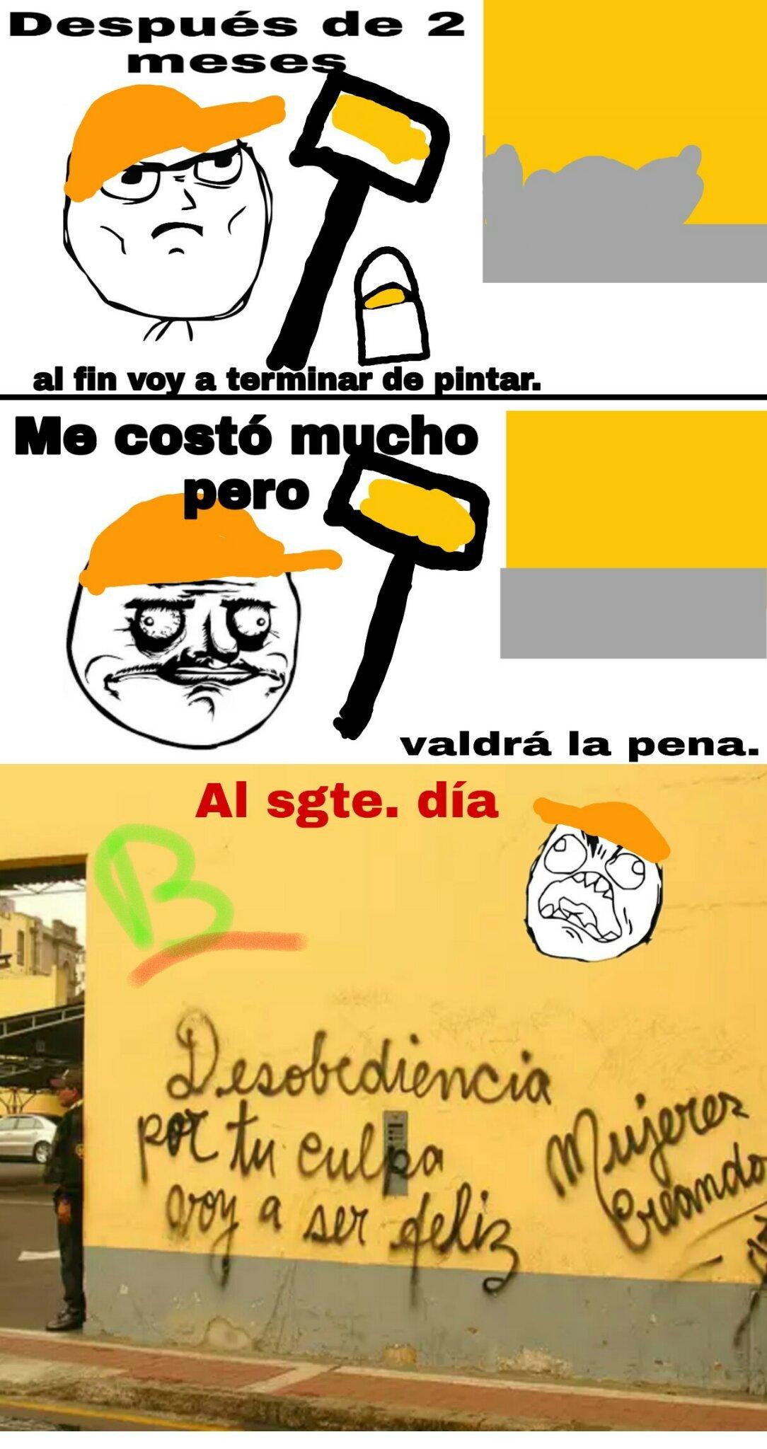 El pintor - meme