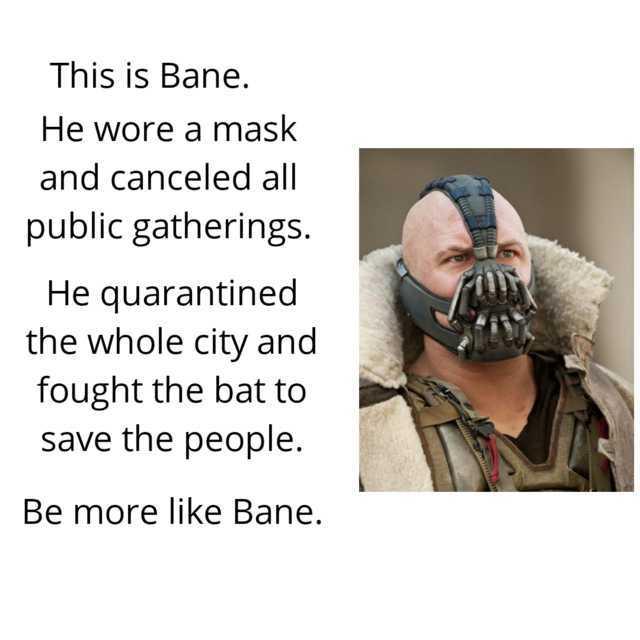 Bane did nothing wrong - meme