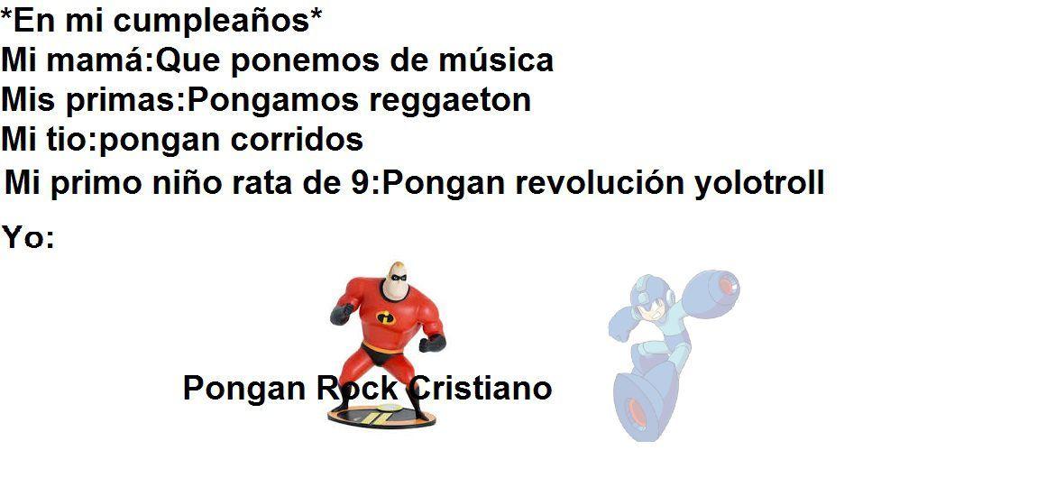 Hoy es mi cumpleaños PD.Pogan Rock Cristiano - meme