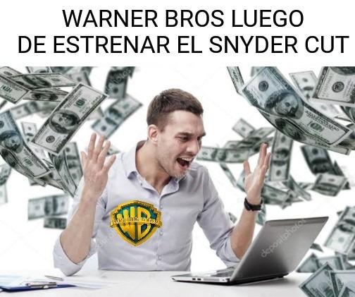Contexto: Warner no quería estrenar el Snyder Cut y lo intento sabotear - meme