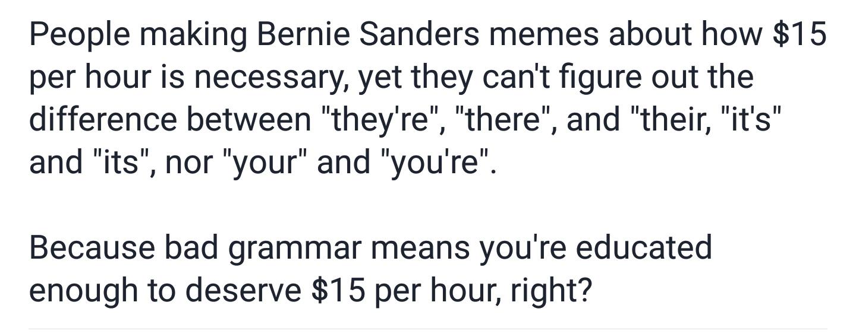 #AgainstTheBern - meme