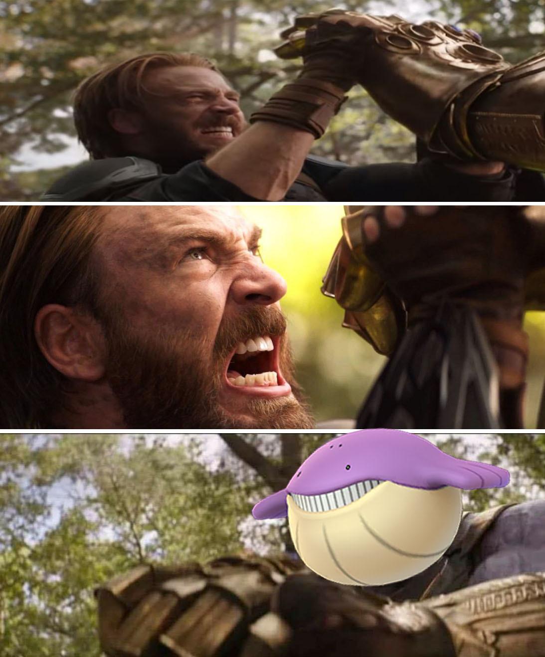 Shiny Wailmer looks like Thanos - meme