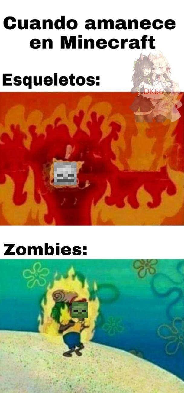 Y los creepers se la pela - meme