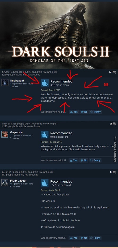 Some funny Steam reviews. - meme