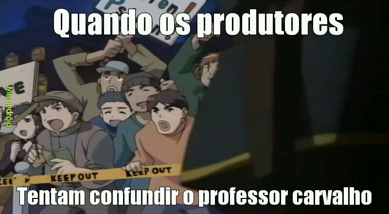 Prof carvalho feelings - meme