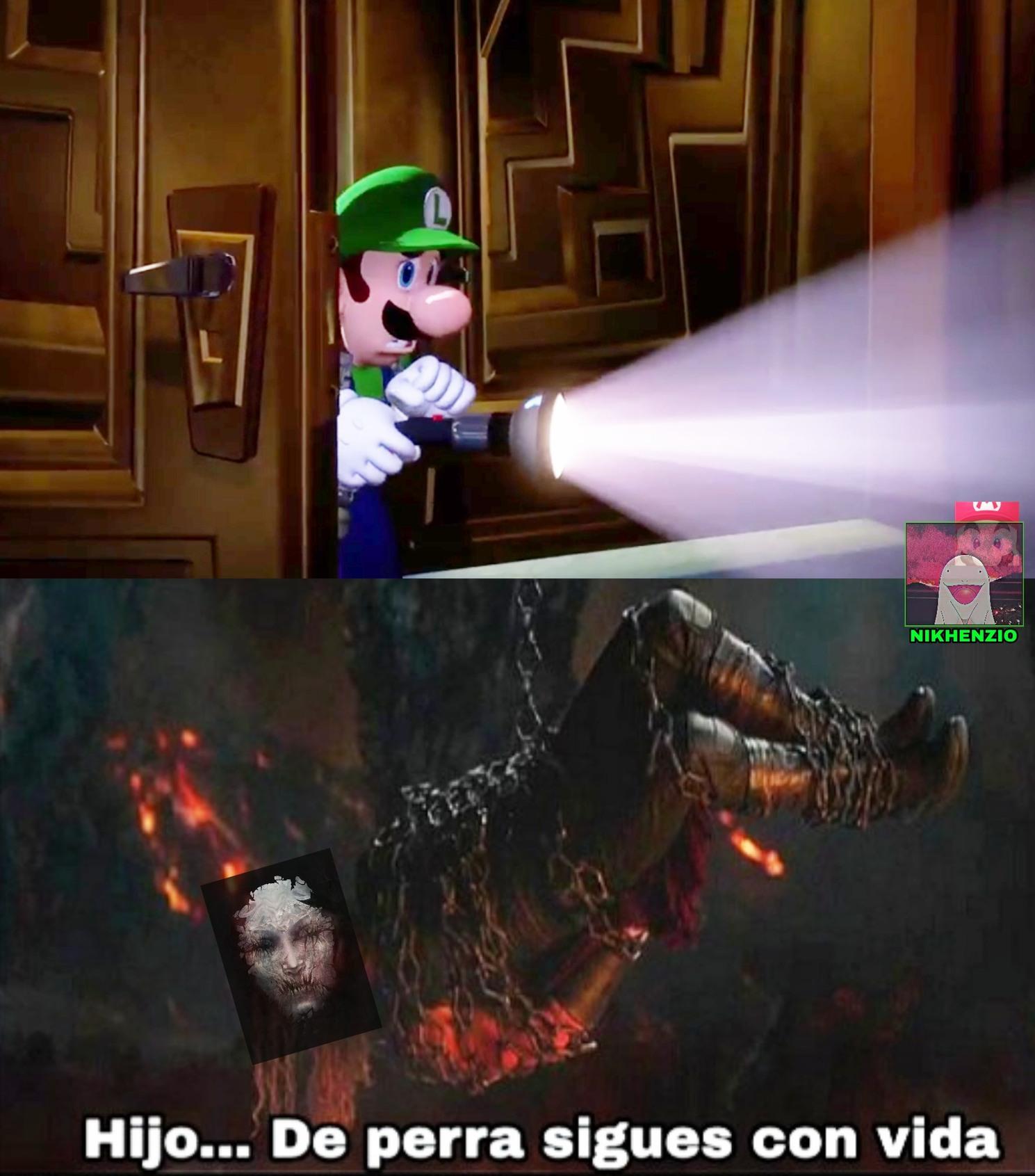 Luigi revivio, aleluha - meme