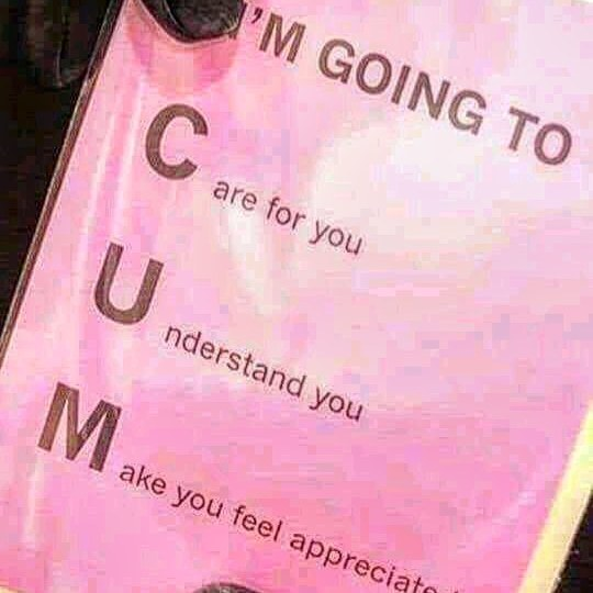 Me cum for you - meme