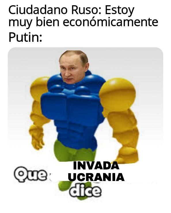 putin es el que sale de la UBA - meme