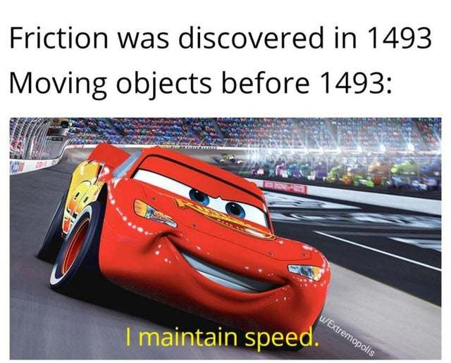 I maintain speed - meme