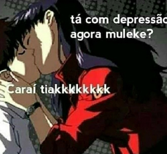 Depresso se cura com bctas - meme