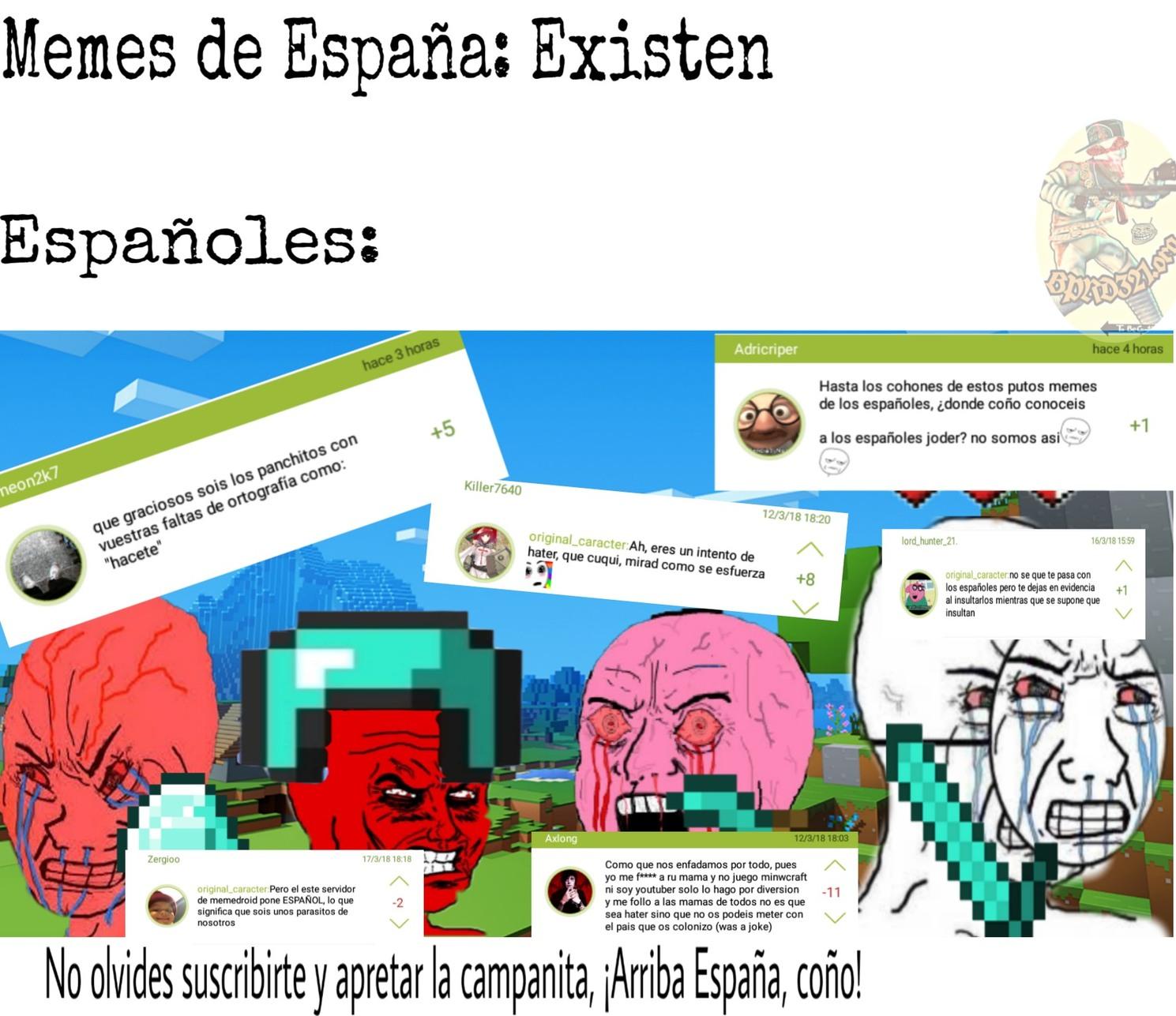 Noh teh Burlez de España, Panchitoh de Mierdah - meme