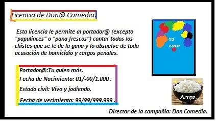 Licencia de Don@ Comedia. - meme