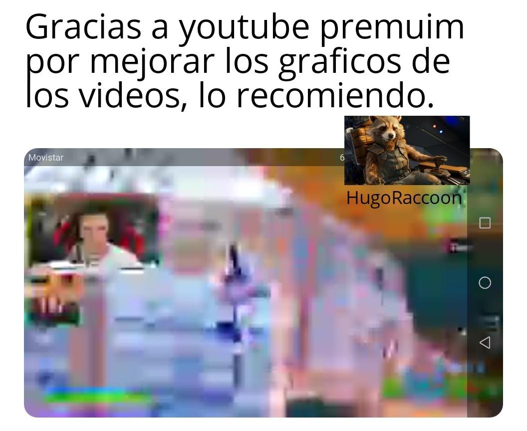 Graficazos, gracias youtube premuin - meme