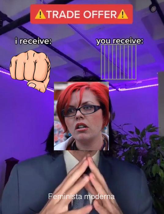 Oferta feminista - meme