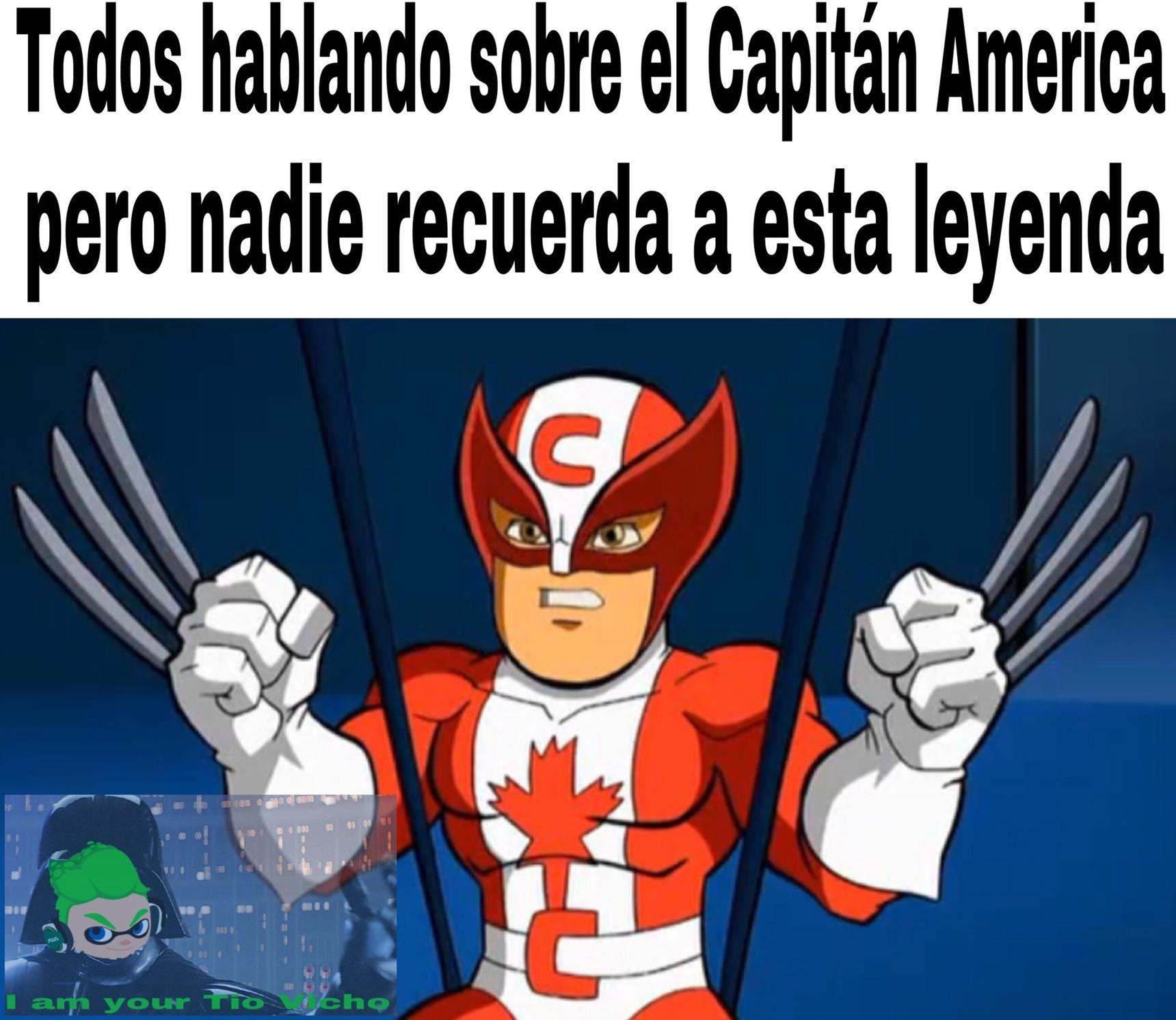 Todos se olvidaron del Capitán Canada - meme