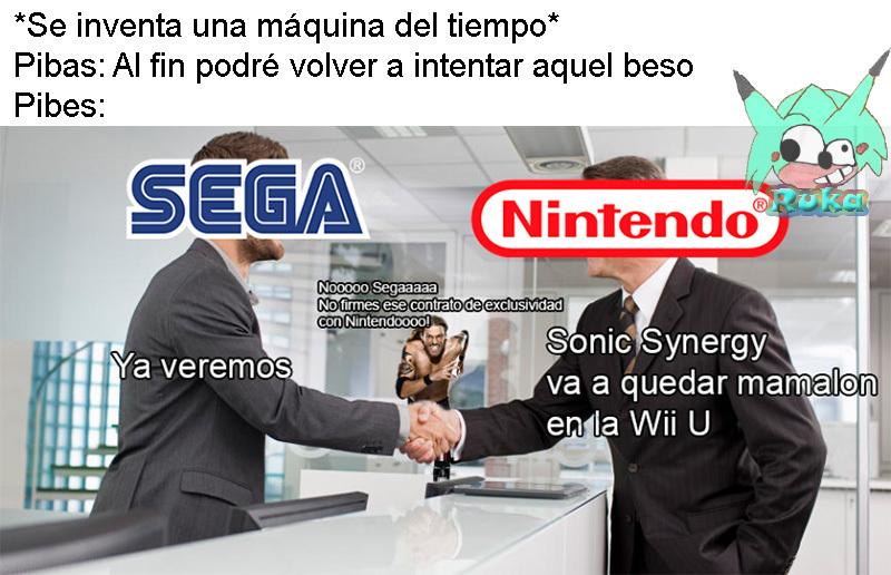 Sonic Synergy = Sonic Boom - meme