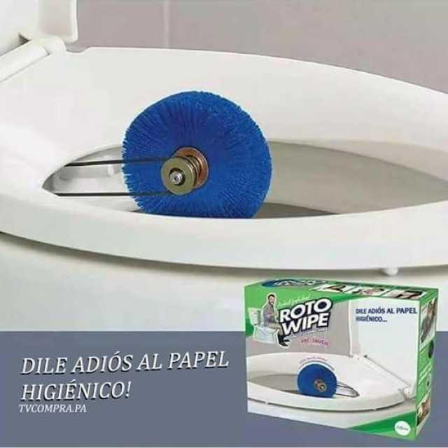 Dile adiós al papel higiénico - meme