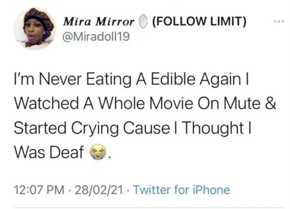 But edibles are great - meme